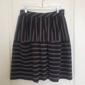 Anthropologie (Maeve) Navy and White Striped Skirt